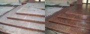 Чистка гранитной плитки,  гранитных ступеней,  фонтанов,  защитная обработка